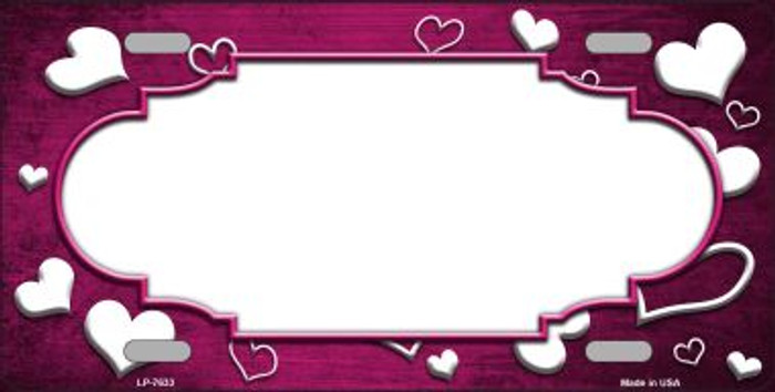 Pink White Love Print Scallop Oil Rubbed Wholesale Metal Novelty License Plate