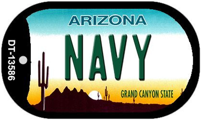 Navy Arizona Wholesale Novelty Metal Dog Tag Necklace DT-13586