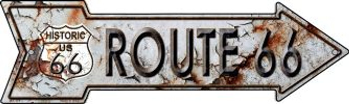 Rusty Route 66 Wholesale Novelty Mini Metal Arrow MA-119