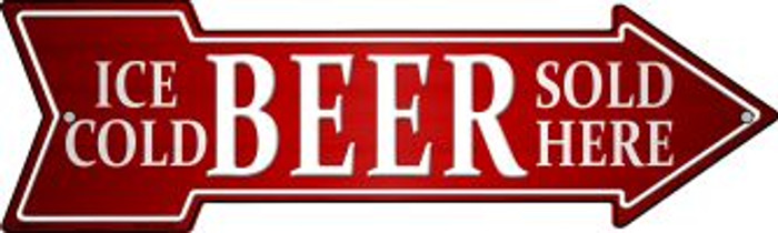 Ice Cold Beer Sold Here Wholesale Novelty Mini Metal Arrow MA-145