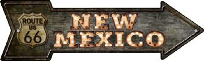 New Mexico Route 66 Bulb Letters Wholesale Novelty Mini Metal Arrow MA-425