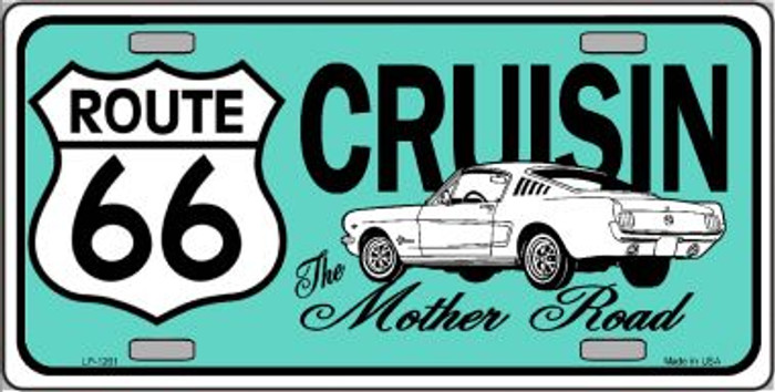 Route 66 Retro Cruisin Novelty Wholesale Metal License Plate