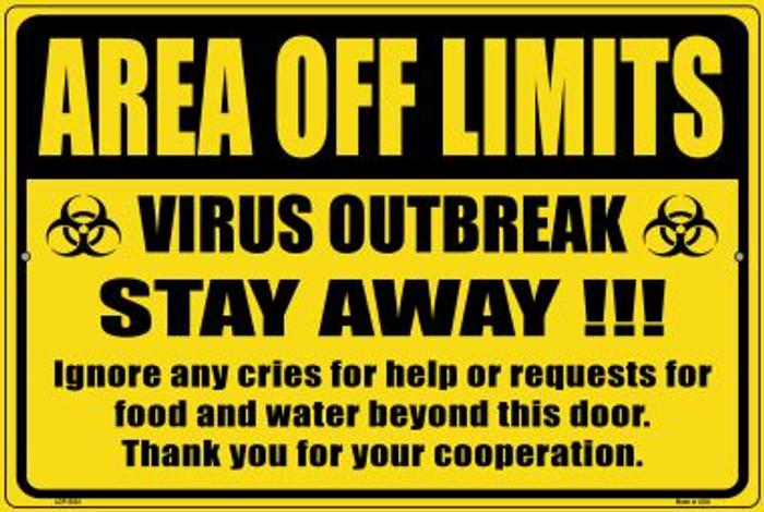 Area Off Limits Wholesale Novelty Metal Large Parking Sign LGP-2834
