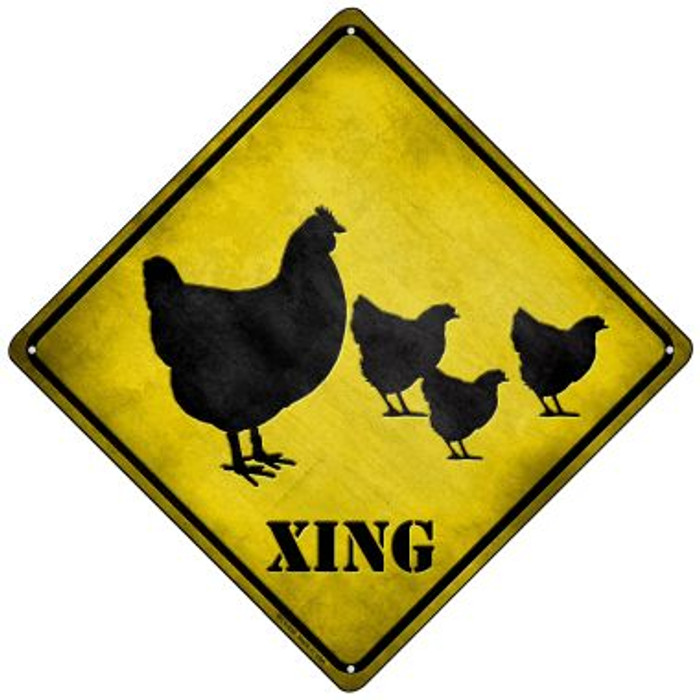 Chicken Xing Wholesale Novelty Mini Metal Crossing Sign MCX-038