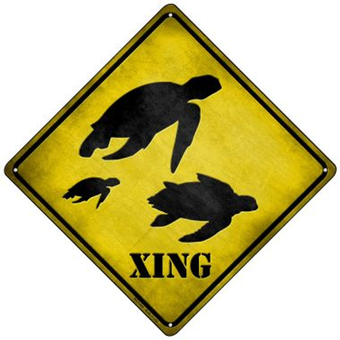 Turtle Xing Wholesale Novelty Mini Metal Crossing Sign MCX-045