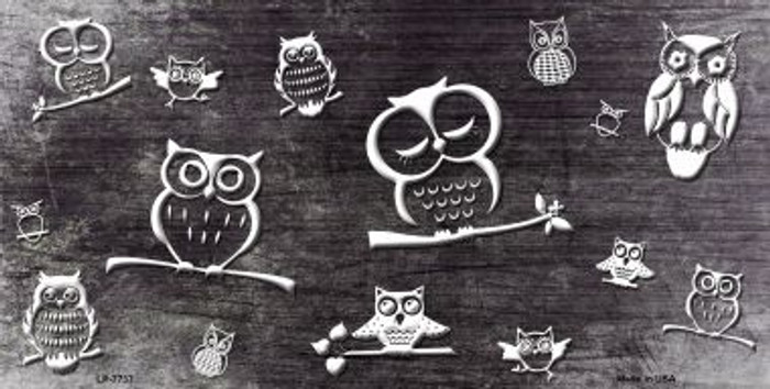 Black White Owl Print Oil Rubbed Wholesale Metal Novelty License Plate