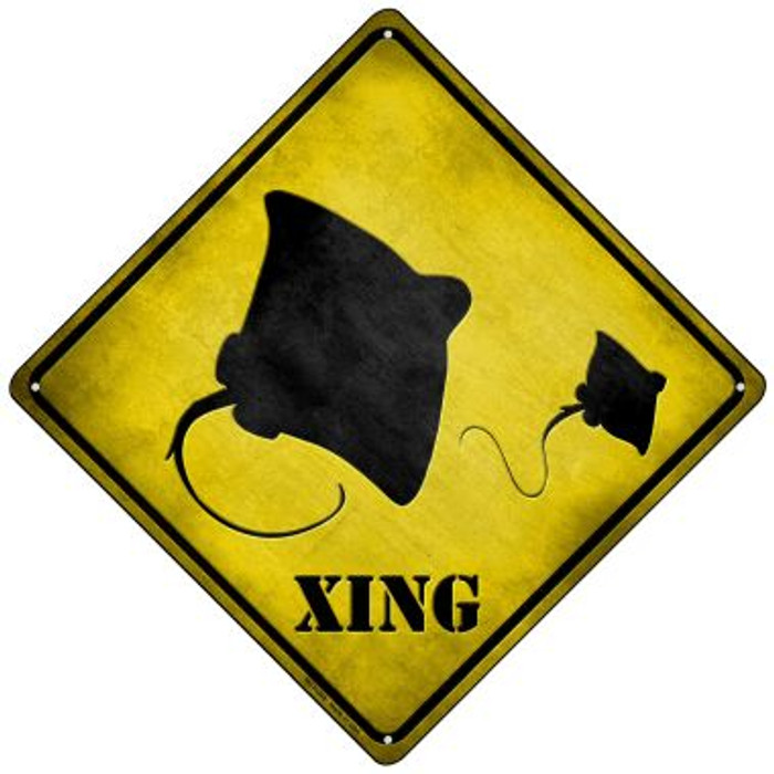 Stingray Xing Wholesale Novelty Mini Metal Crossing Sign MCX-049
