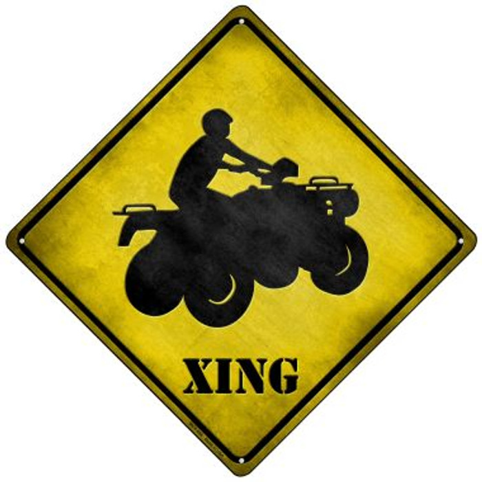 4 Wheeler Xing Wholesale Novelty Mini Metal Crossing Sign MCX-096