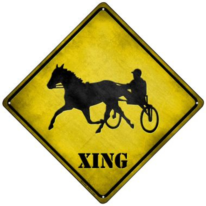 Harness Racing Xing Wholesale Novelty Mini Metal Crossing Sign MCX-099