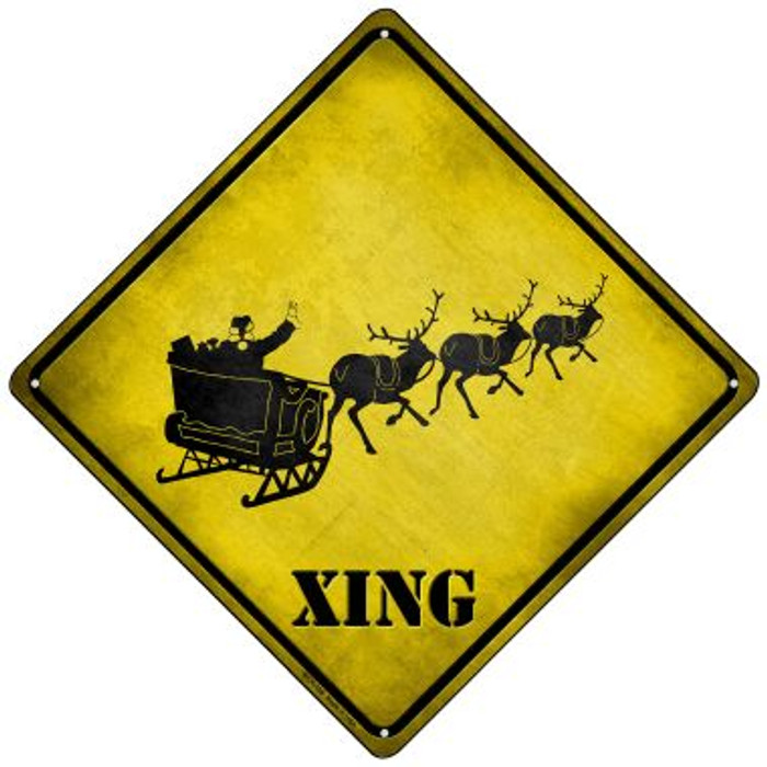 Santa Xing Wholesale Novelty Mini Metal Crossing Sign MCX-166