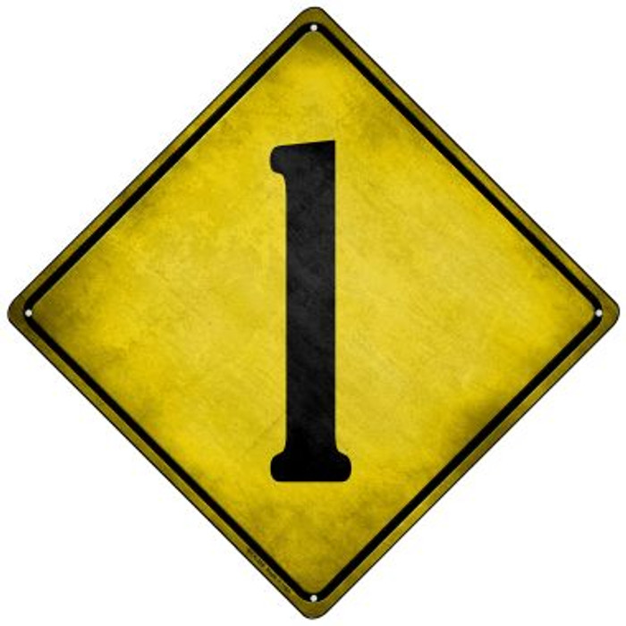 Number 1 Xing Wholesale Novelty Mini Metal Crossing Sign MCX-298