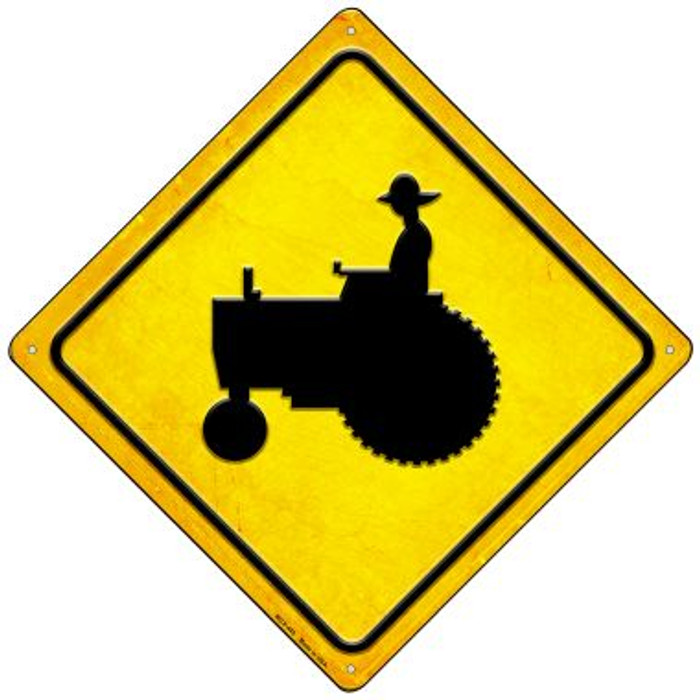 Tractor Crossing Wholesale Novelty Mini Metal Crossing Sign MCX-445