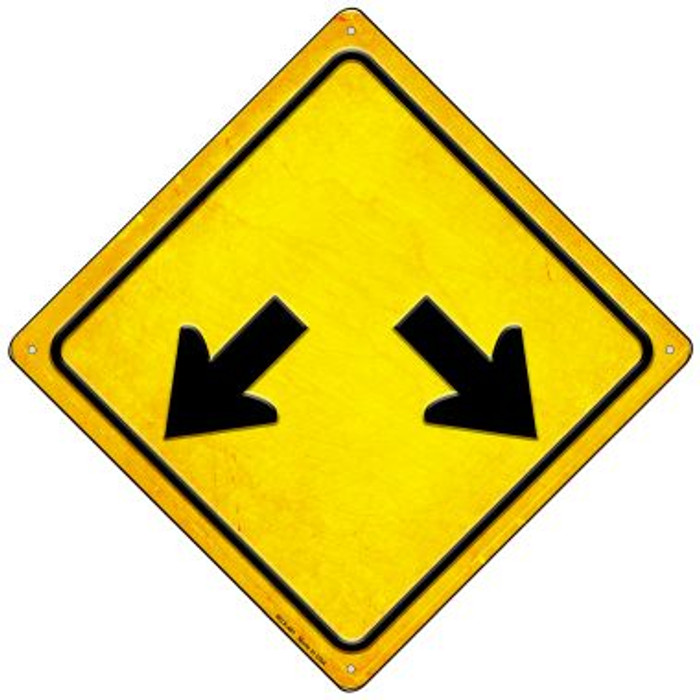 Double Arrow Wholesale Novelty Mini Metal Crossing Sign MCX-461