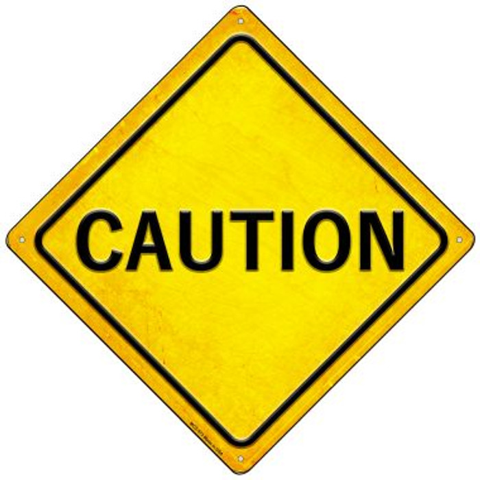 Caution Wholesale Novelty Mini Metal Crossing Sign MCX-573