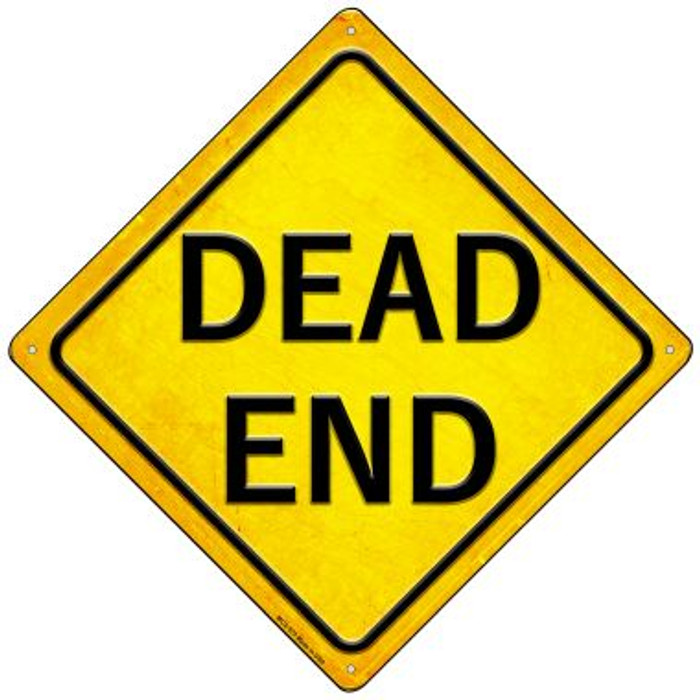 Dead End Wholesale Novelty Mini Metal Crossing Sign MCX-575