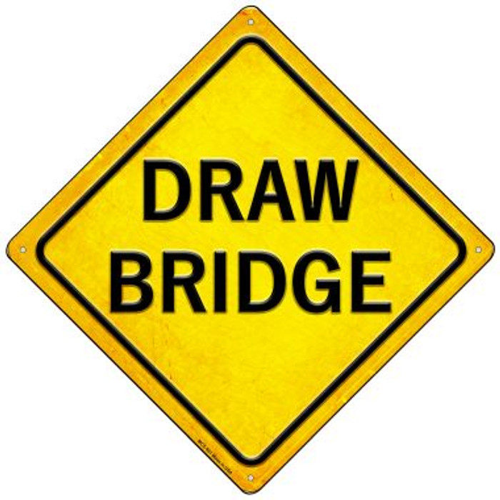 Draw Bridge Wholesale Novelty Mini Metal Crossing Sign MCX-581