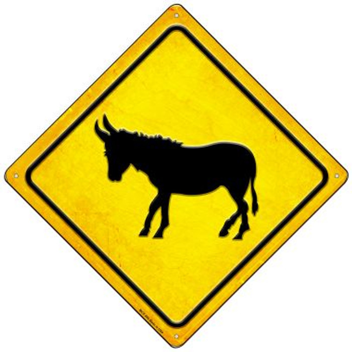 Donkey Wholesale Novelty Mini Metal Crossing Sign MCX-596