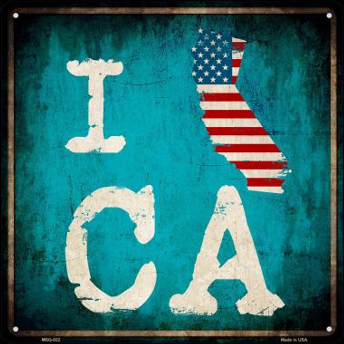 I Love California Wholesale Novelty Mini Metal Square MSQ-022