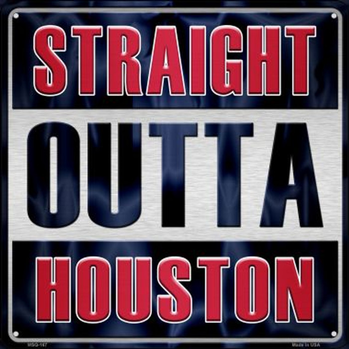 Straight Outta Houston Wholesale Novelty Mini Metal Square MSQ-167