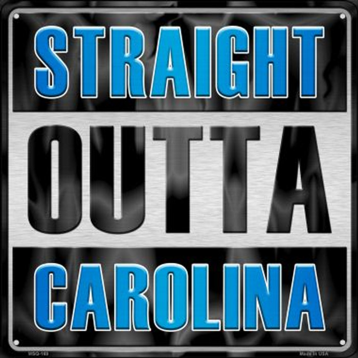 Straight Outta Carolina Wholesale Novelty Mini Metal Square MSQ-169
