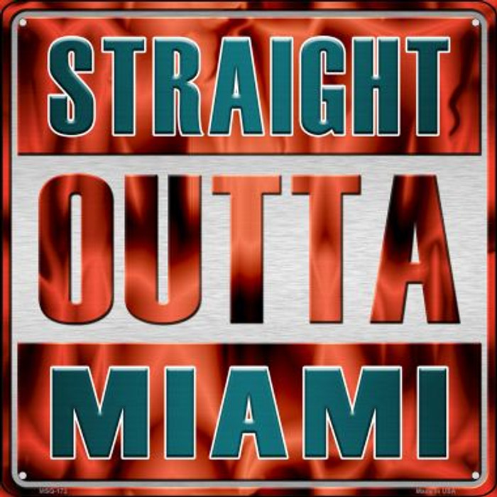 Straight Outta Miami Wholesale Novelty Mini Metal Square MSQ-172