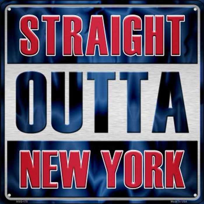 Straight Outta New York Wholesale Novelty Mini Metal Square MSQ-175