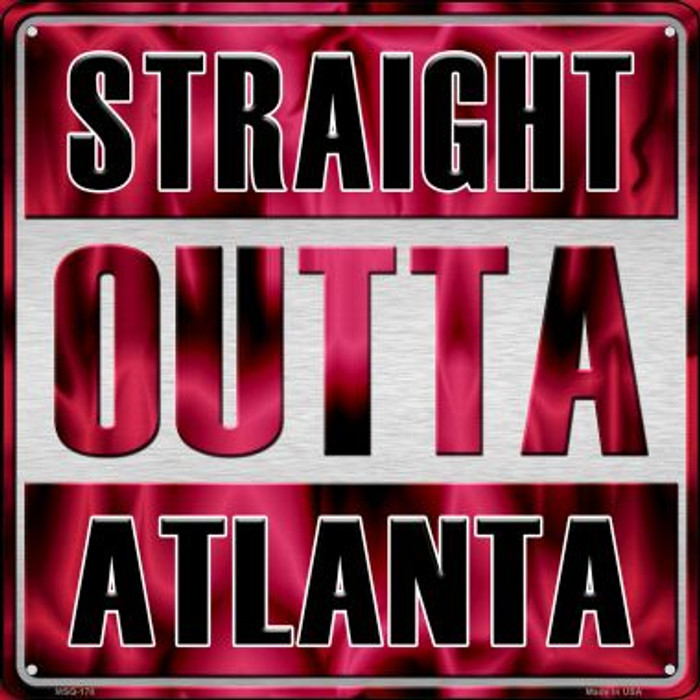 Straight Outta Atlanta Wholesale Novelty Mini Metal Square MSQ-178