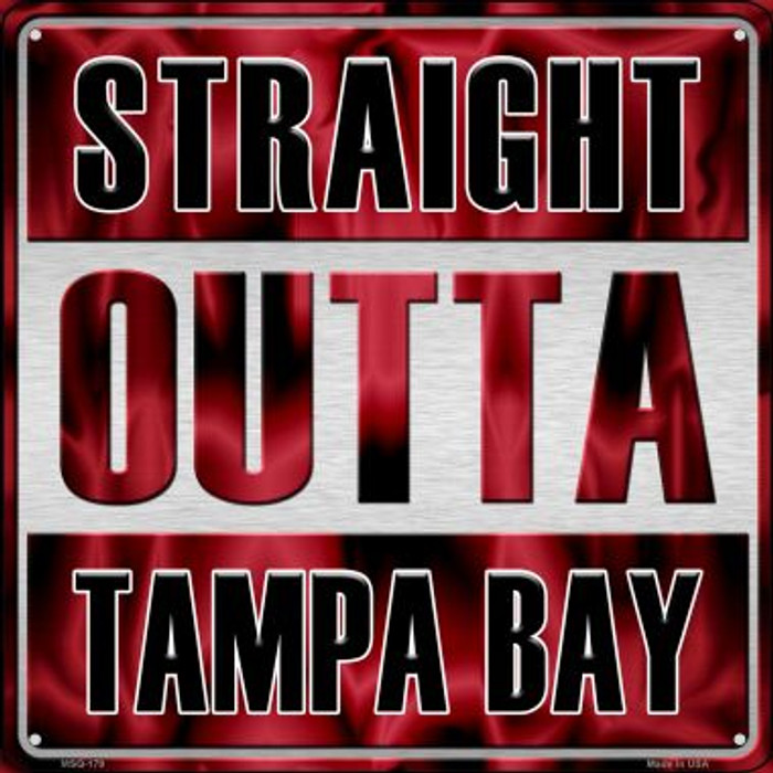 Straight Outta Tampa Bay Wholesale Novelty Mini Metal Square MSQ-179