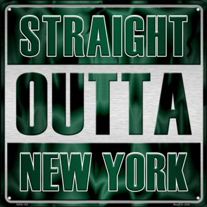 Straight Outta New York Wholesale Novelty Mini Metal Square MSQ-180