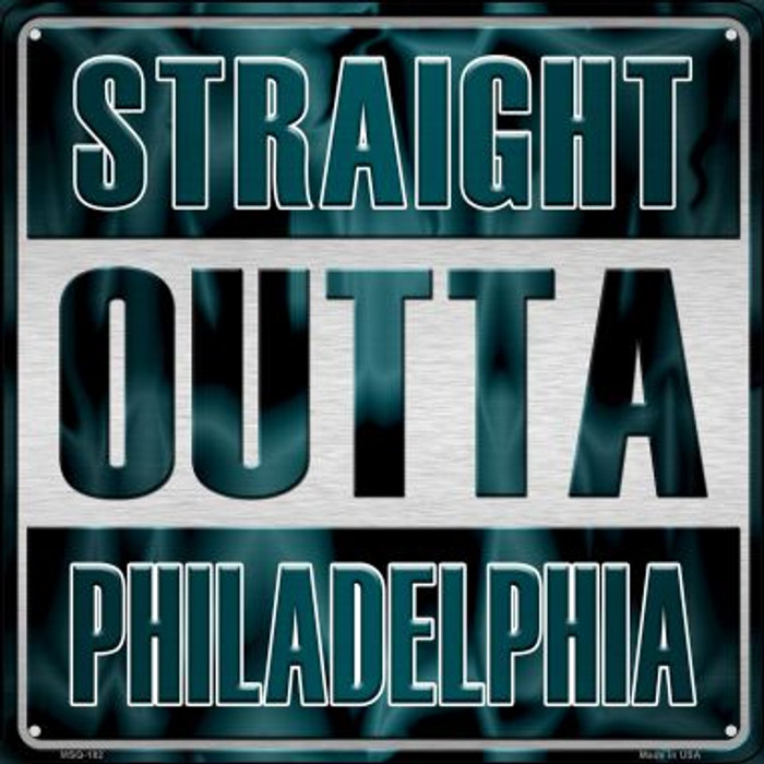 Straight Outta Philadelphia Wholesale Novelty Mini Metal Square MSQ-182