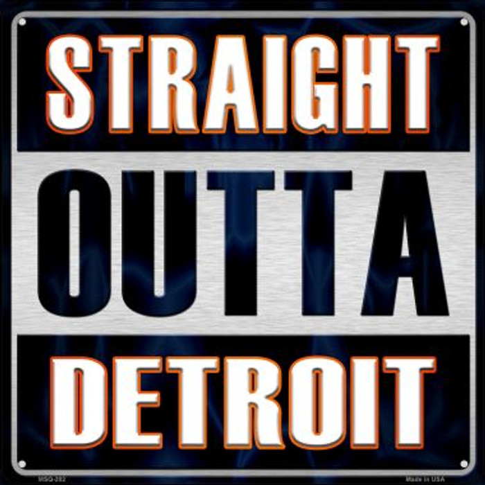 Straight Outta Detroit Wholesale Novelty Mini Metal Square MSQ-202