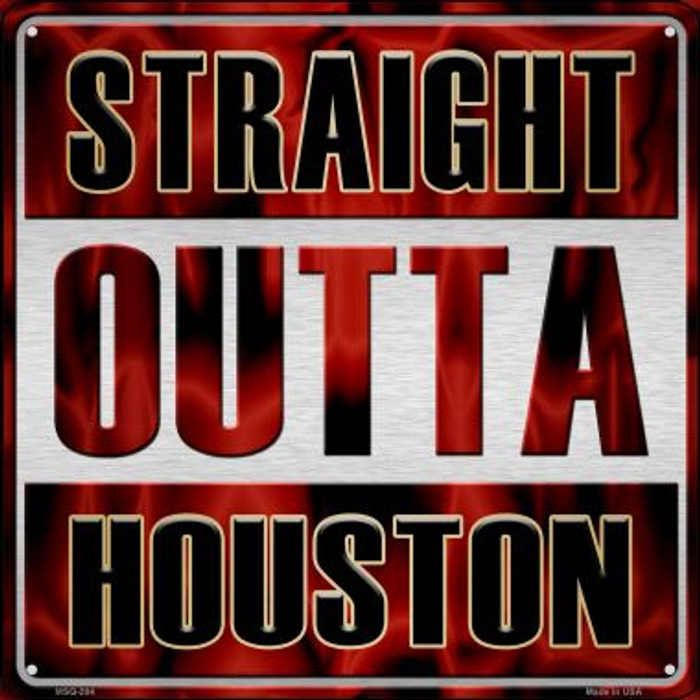 Straight Outta Houston Wholesale Novelty Mini Metal Square MSQ-204