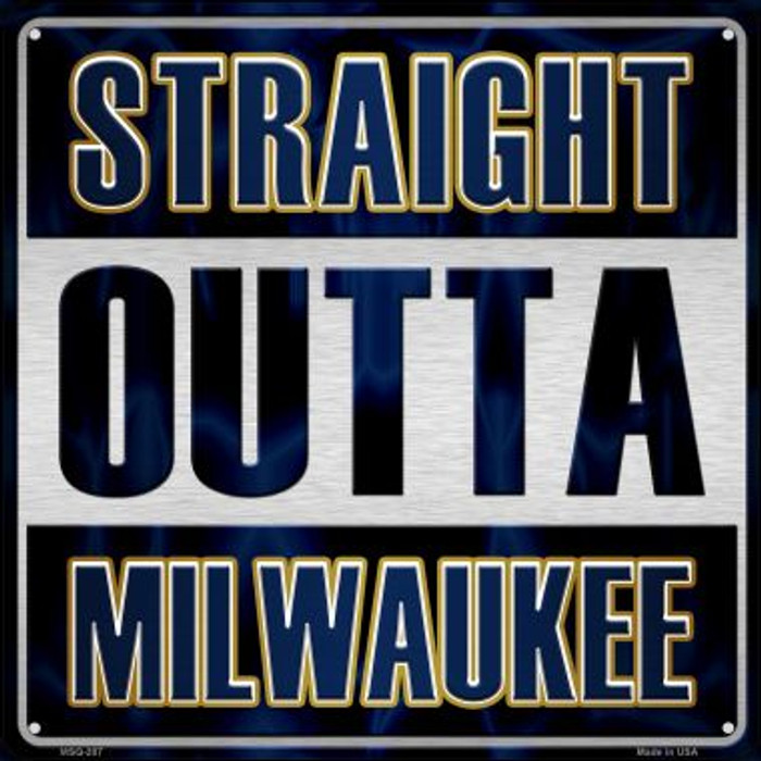 Straight Outta Milwaukee Wholesale Novelty Mini Metal Square MSQ-207