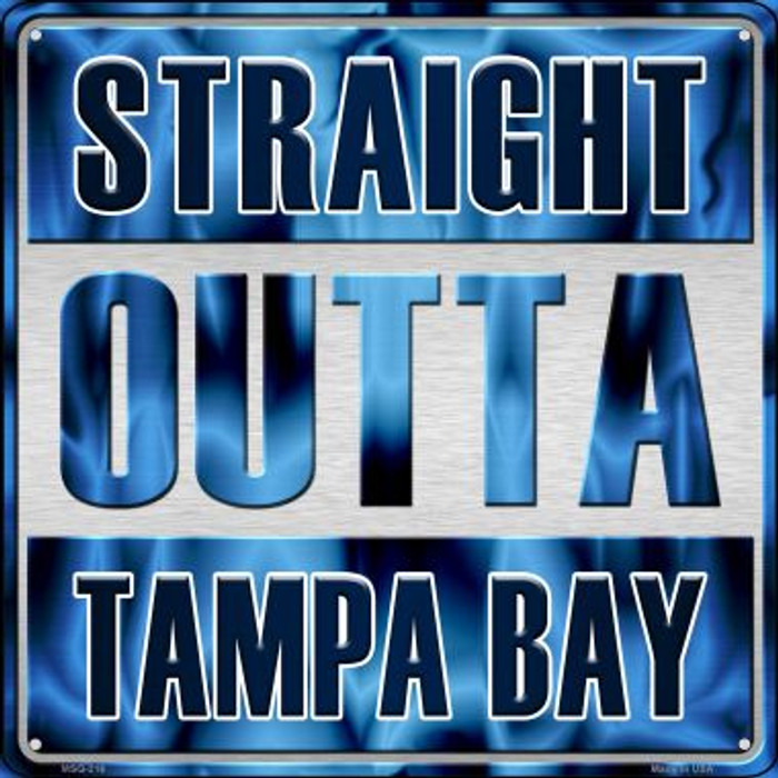 Straight Outta Tampa Bay Wholesale Novelty Mini Metal Square MSQ-216