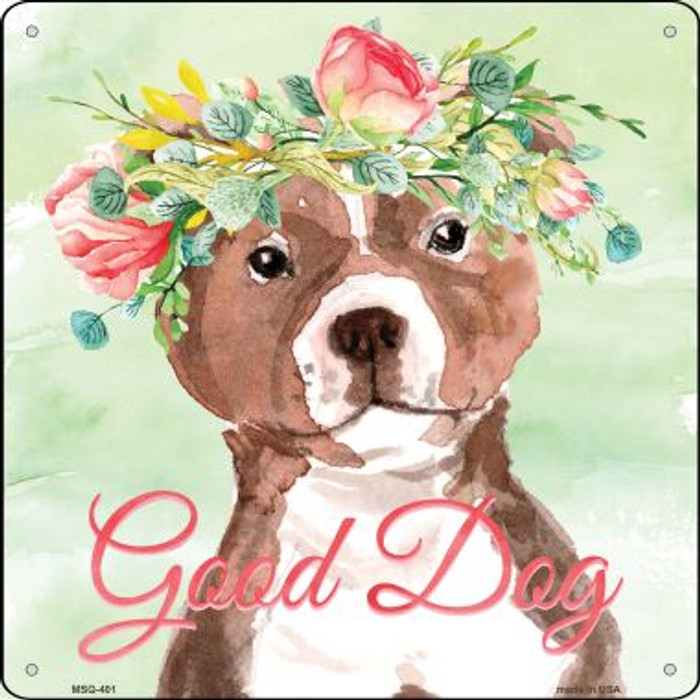 Bull Terrier Good Dog Wholesale Novelty Mini Metal Square MSQ-401
