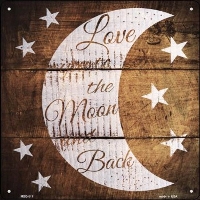 Moon and Back Painted Stencil Wholesale Novelty Mini Metal Square MSQ-517