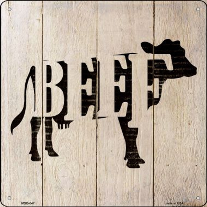 Cows Make Beef Wholesale Novelty Mini Metal Square MSQ-647