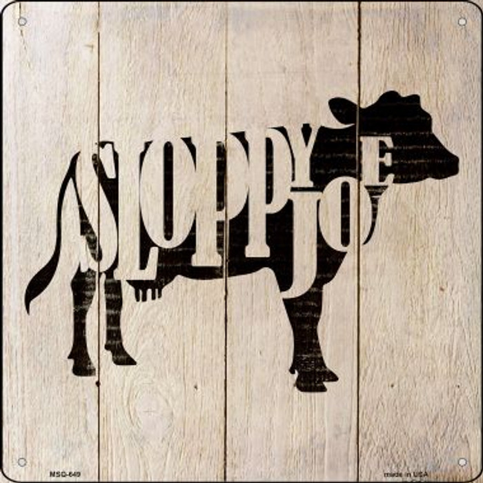Cows Make Sloppy Joes Wholesale Novelty Mini Metal Square MSQ-649