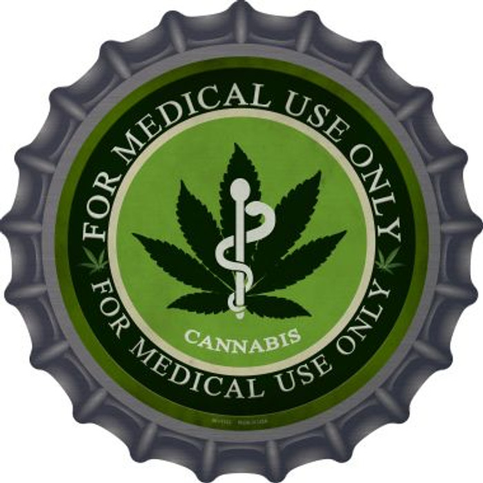 Cannabis For Medical Use Only Wholesale Novelty Metal Bottle Cap BC-1132