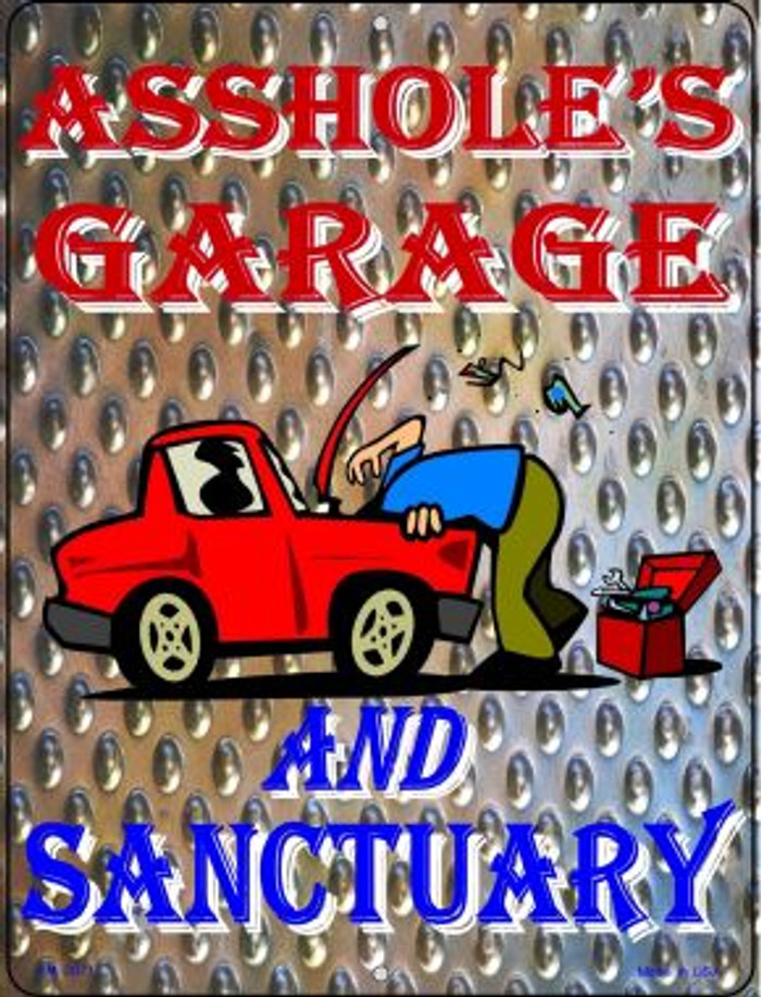 Garage And Sanctuary Wholesale Novelty Mini Metal Parking Sign PM-2071