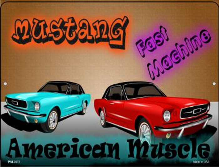 American Muscle Mustang Wholesale Novelty Mini Metal Parking Sign PM-2072