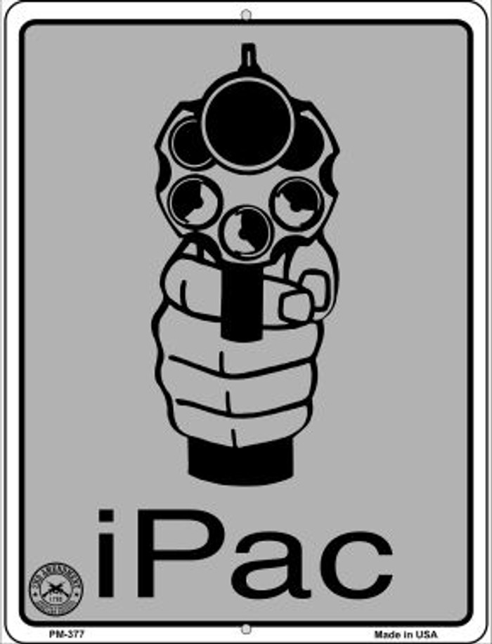 iPac Wholesale Novelty Mini Metal Parking Sign PM-377