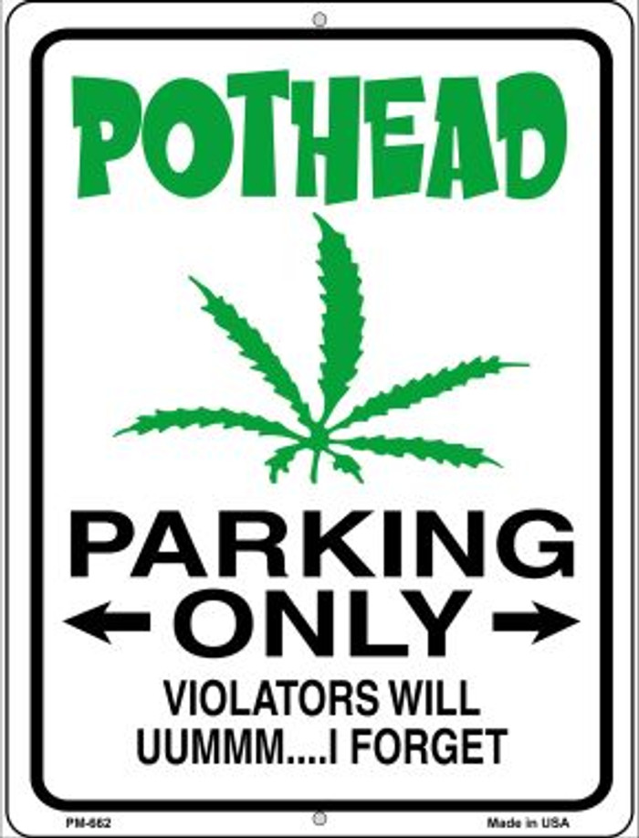 Pothead Parking Only Wholesale Novelty Mini Metal Parking Sign PM-662