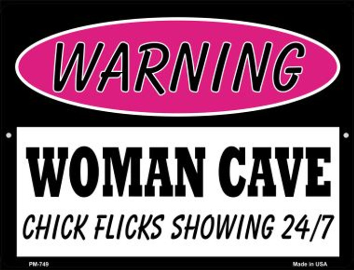 Chick Flicks Showing 24 7 Wholesale Novelty Mini Metal Parking Sign PM-749