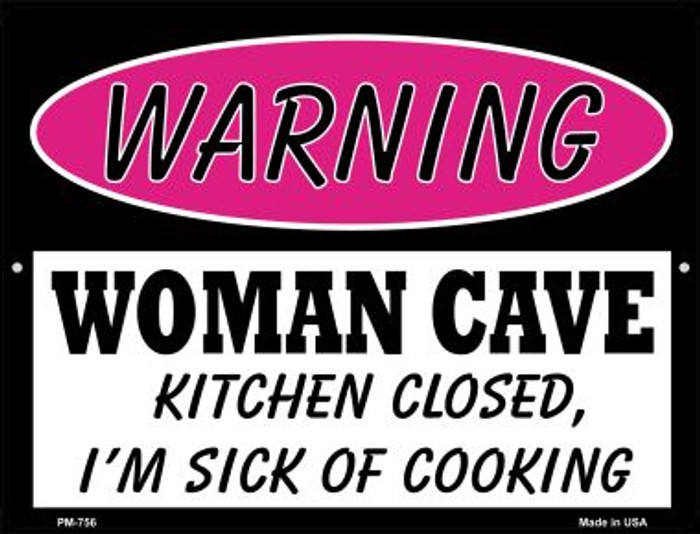 Kitchen Closed Sick Of Cooking Wholesale Novelty Mini Metal Parking Sign PM-756