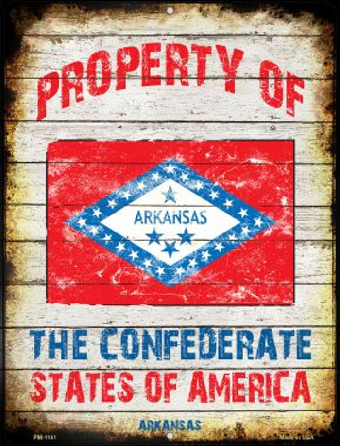 Property Of Arkansas Wholesale Novelty Mini Metal Parking Sign PM-1161