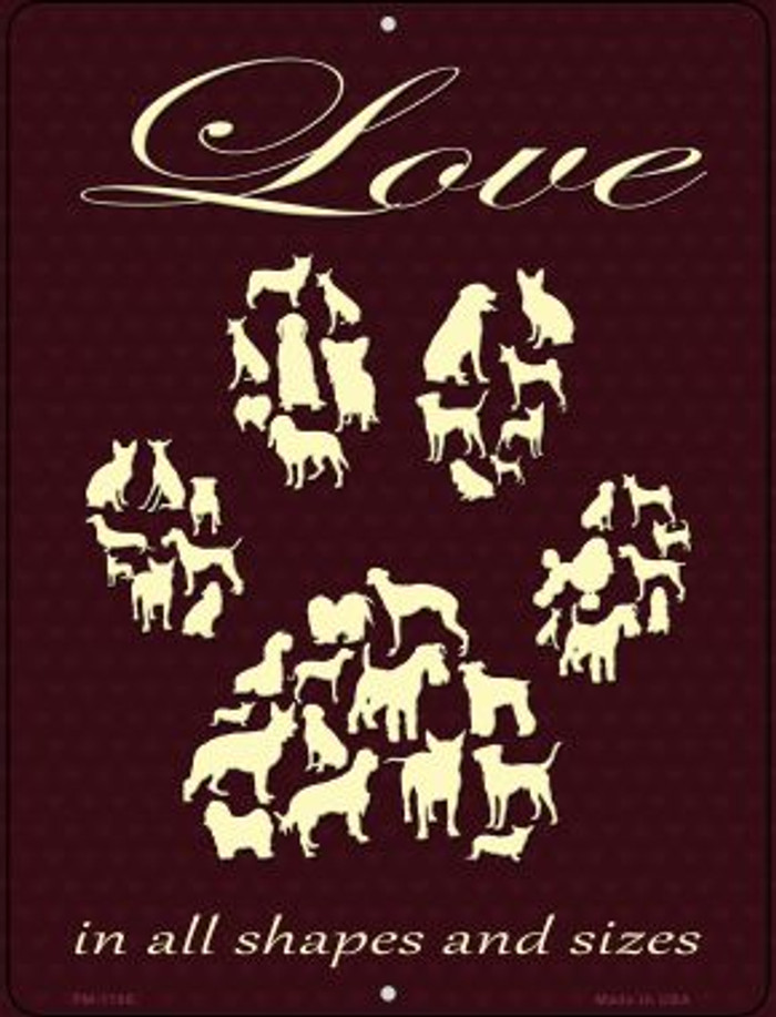 Love In All Shapes Wholesale Novelty Mini Metal Parking Sign PM-1196