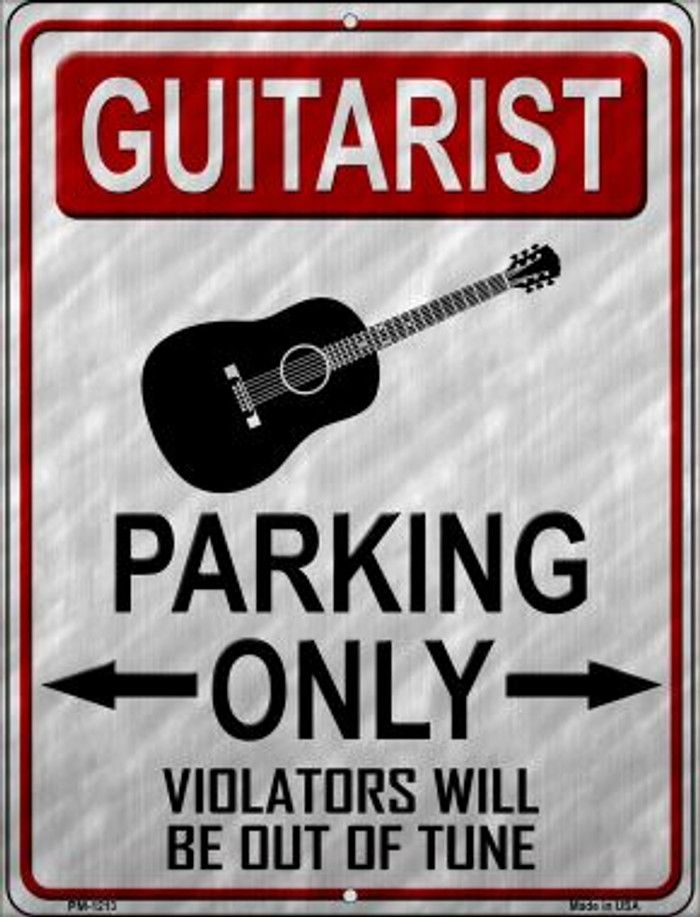 Guitarist Parking Wholesale Novelty Mini Metal Parking Sign PM-1213