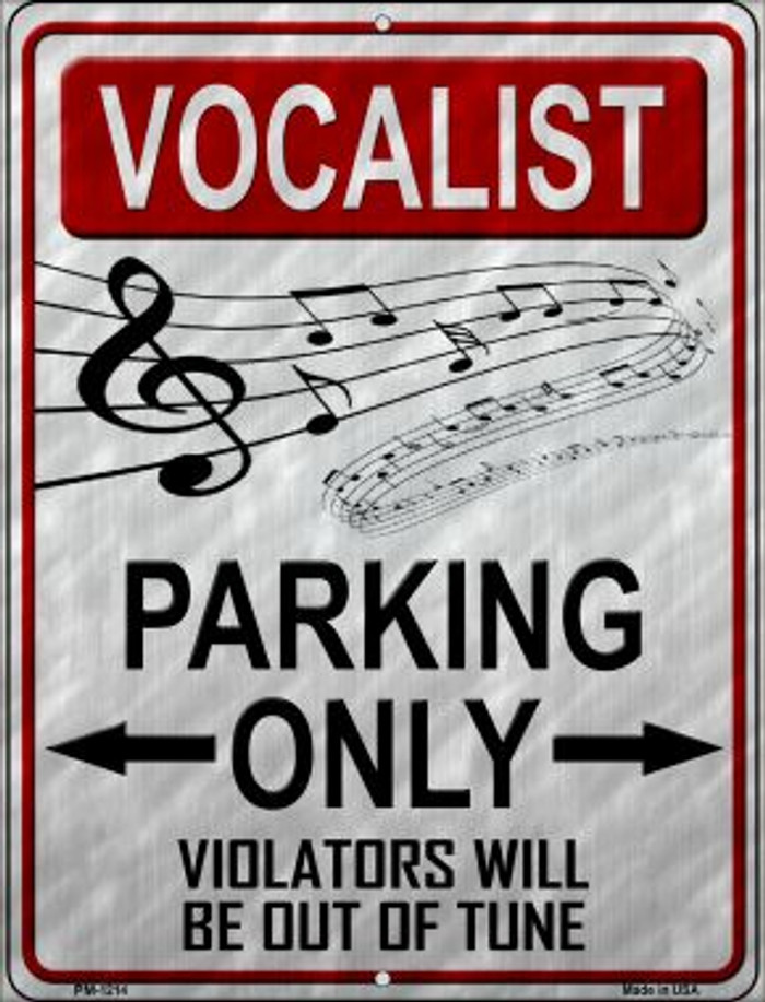 Vocalist Parking Wholesale Novelty Mini Metal Parking Sign PM-1214