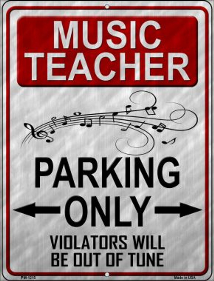 Music Teacher Parking Wholesale Novelty Mini Metal Parking Sign PM-1215